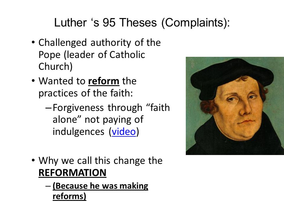 PROTESTANTISM Look at the root word of Protestantism It is Protest – What does it mean to protest.