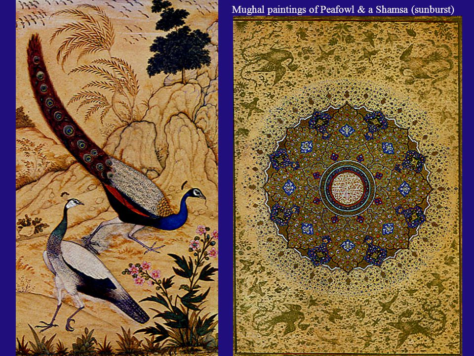 Under the Mughals, Persian miniature painting blended with the more fluid style of Indian art to create a dynamic variation on miniature painting. Bel