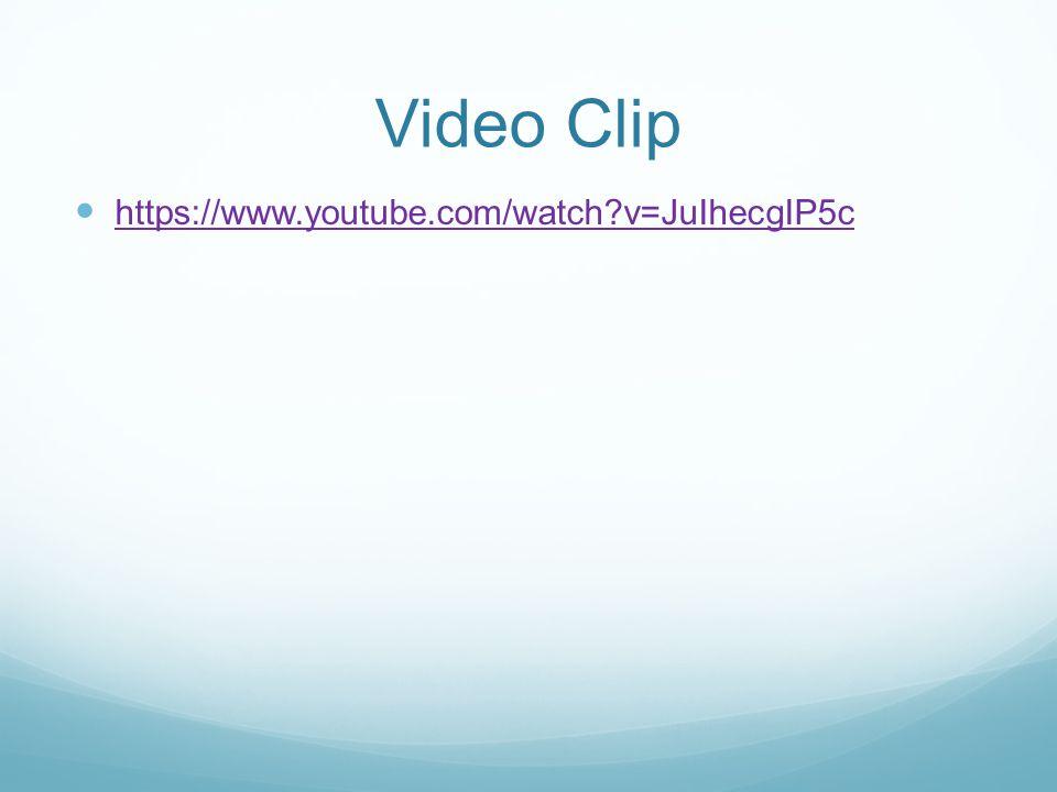 Video Clip https://www.youtube.com/watch?v=JuIhecgIP5c