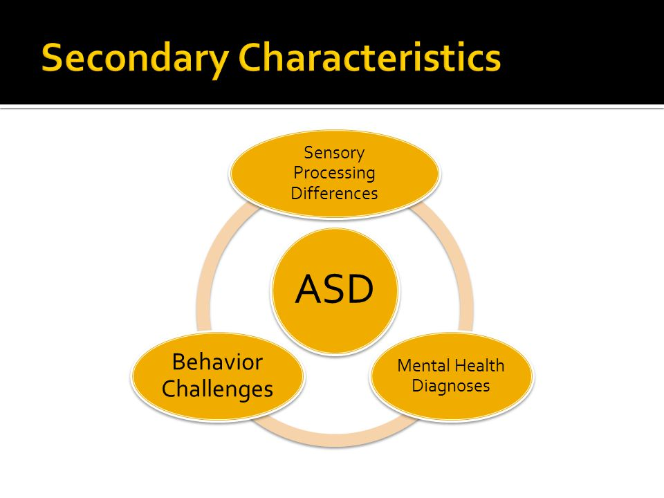 ASD Sensory Processing Differences Mental Health Diagnoses Behavior Challenges