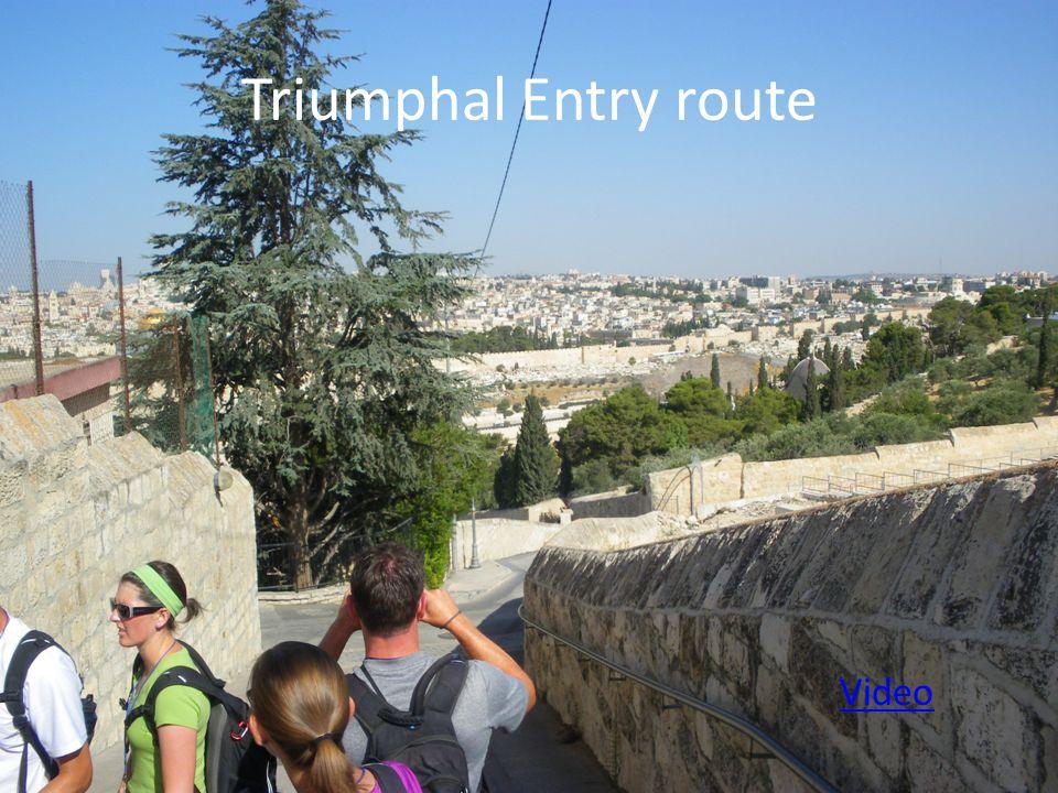 Triumphal Entry route Video
