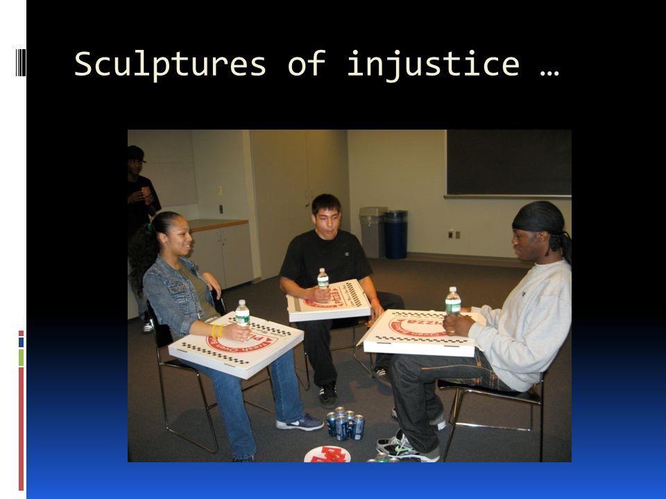 Sculptures of injustice …