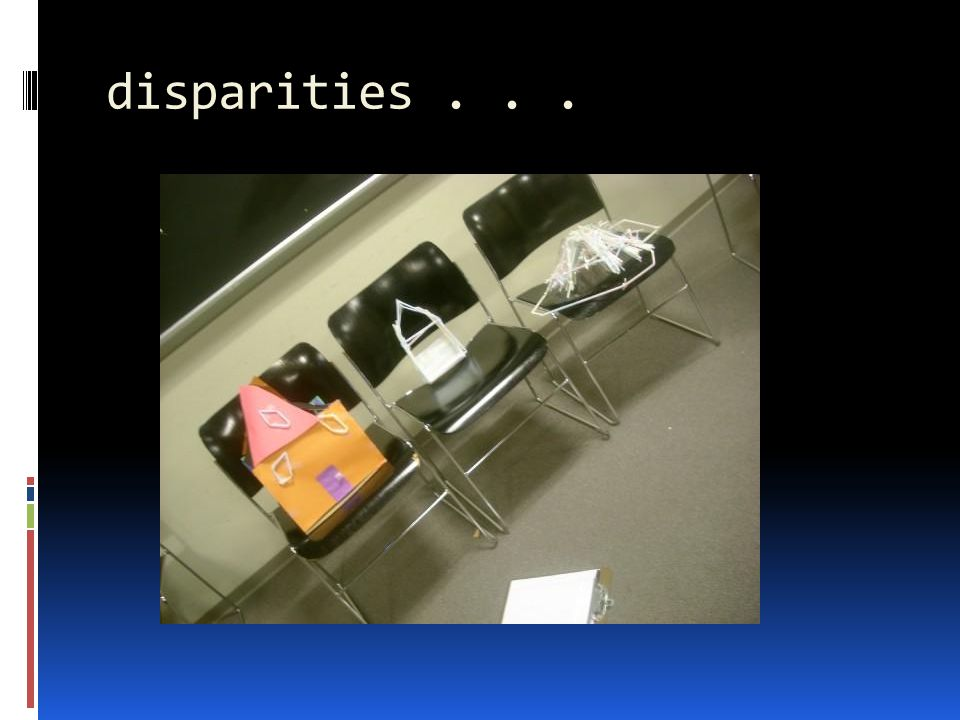 disparities...