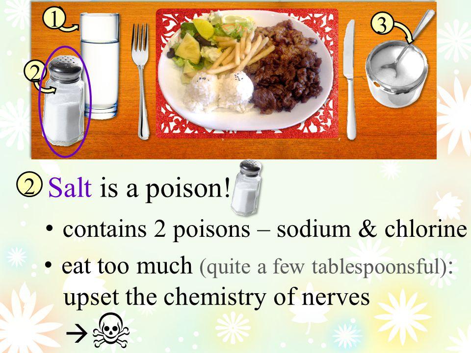 1 2 3 Salt is a poison.