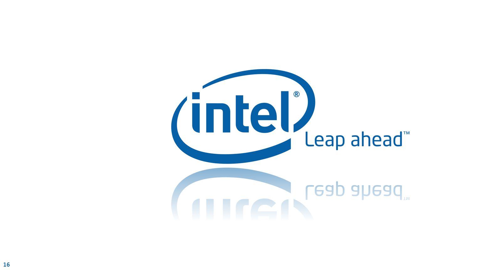 16 Intel Confidential