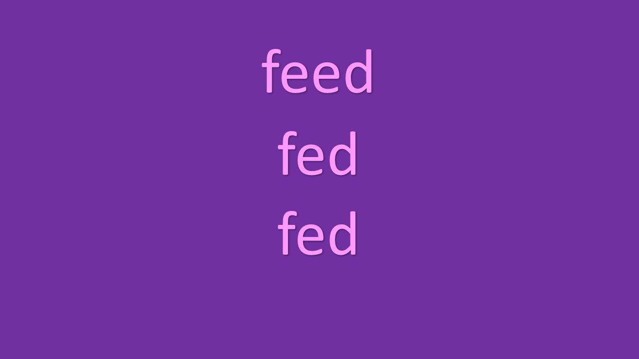 feed fed fed