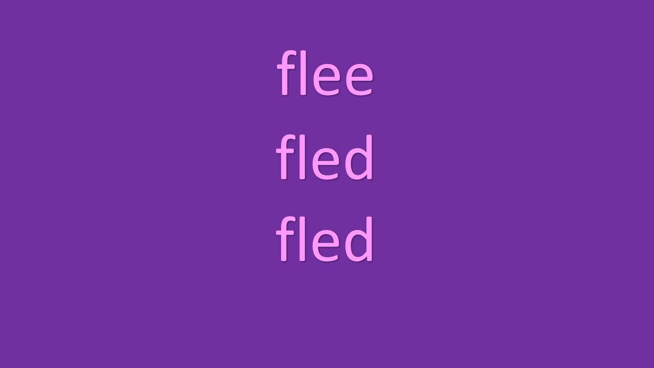 flee fled fled