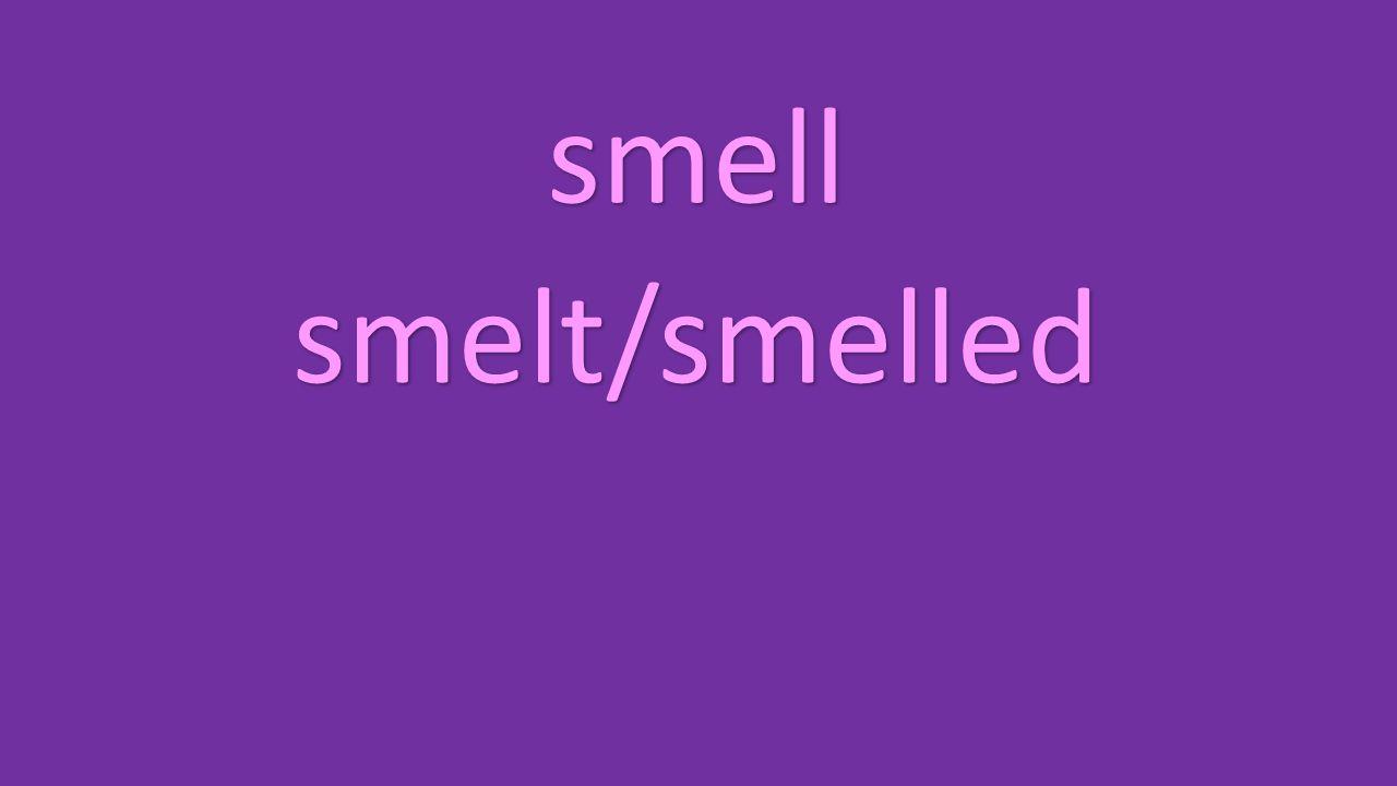 smell smelt/smelled