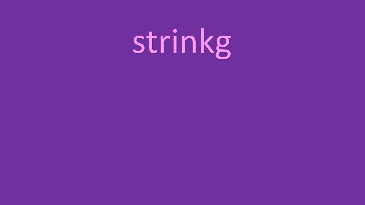 strinkg