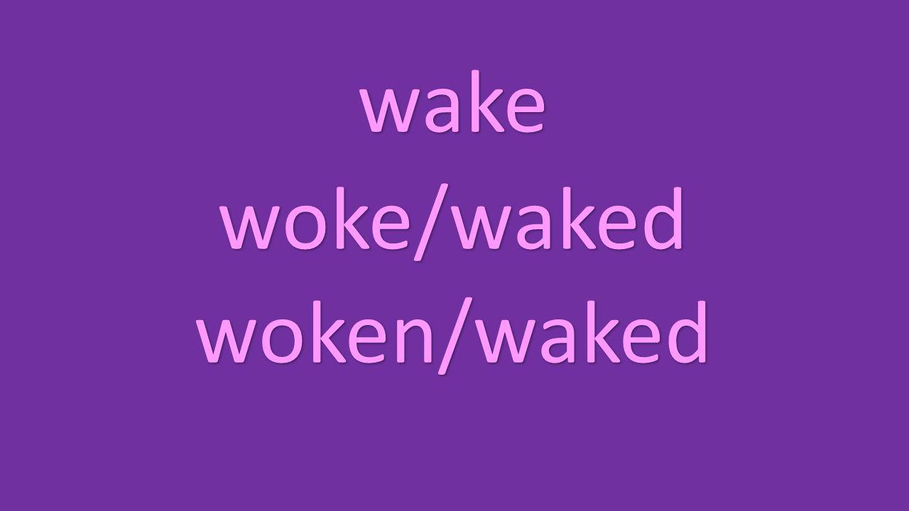 wake woke/waked woken/waked