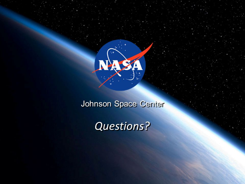 Johnson Space Center Questions