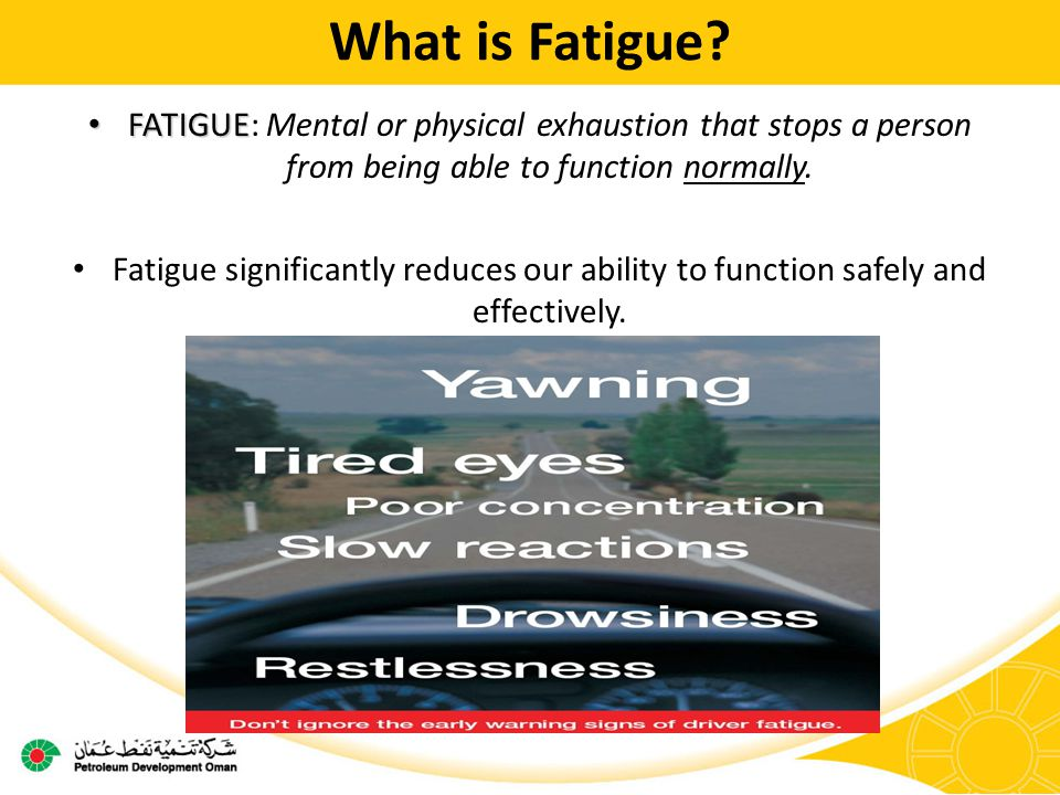 What is Fatigue.