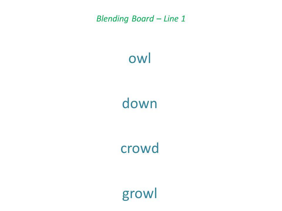 Blending Board – Line 1 owl down crowd growl