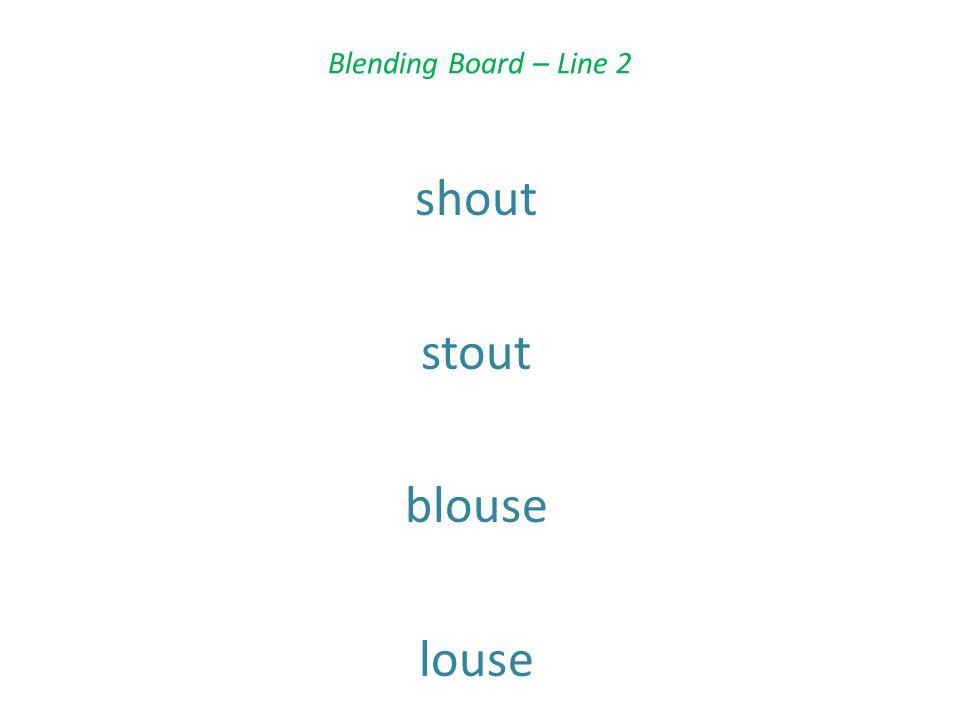 Blending Board – Line 2 shout stout blouse louse