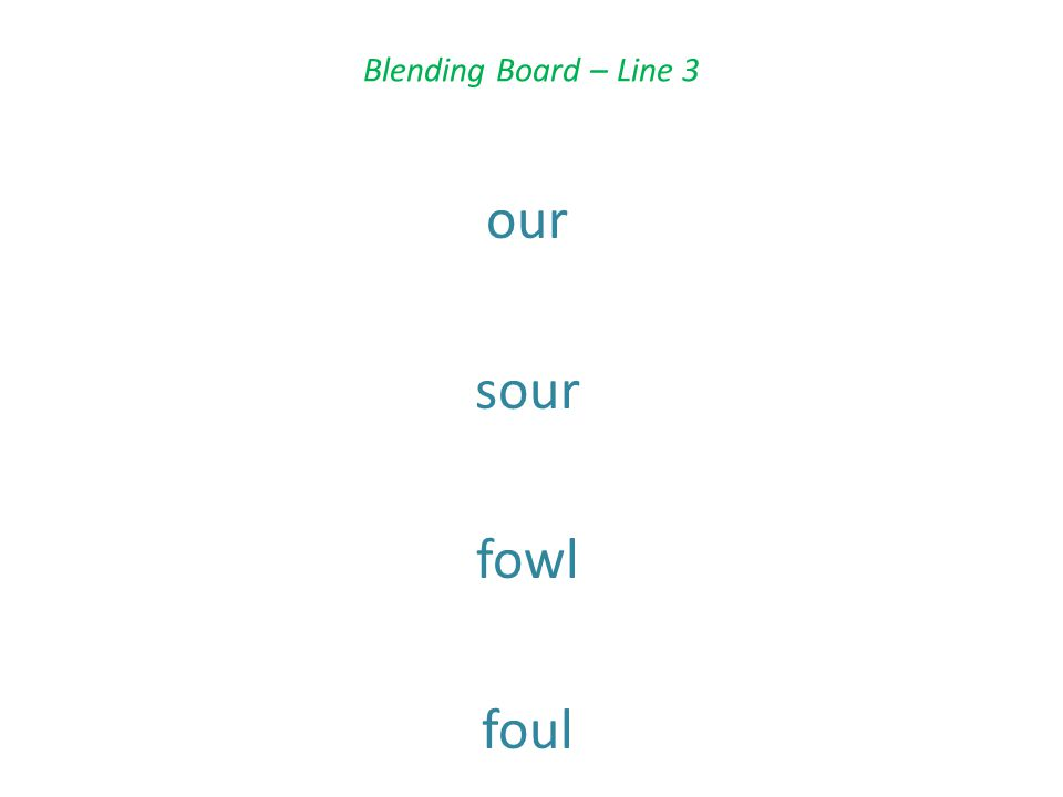 Blending Board – Line 3 our sour fowl foul
