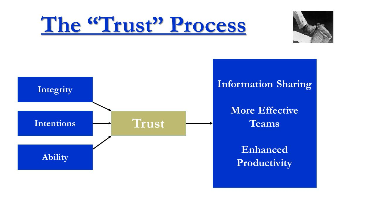 Integrity Intentions Ability Trust Less Satisfied Less Committed Lower Task Performance Few OCB's Higher Turnover The Trust Process