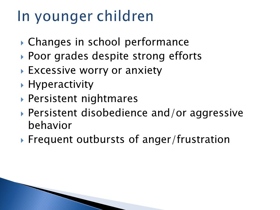Every member of a family is affected by tragedy or extreme stress, even the youngest child.