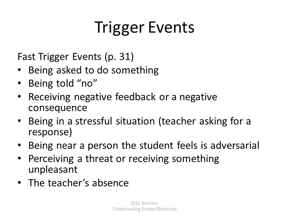 Trigger Events Fast Trigger Events (p.