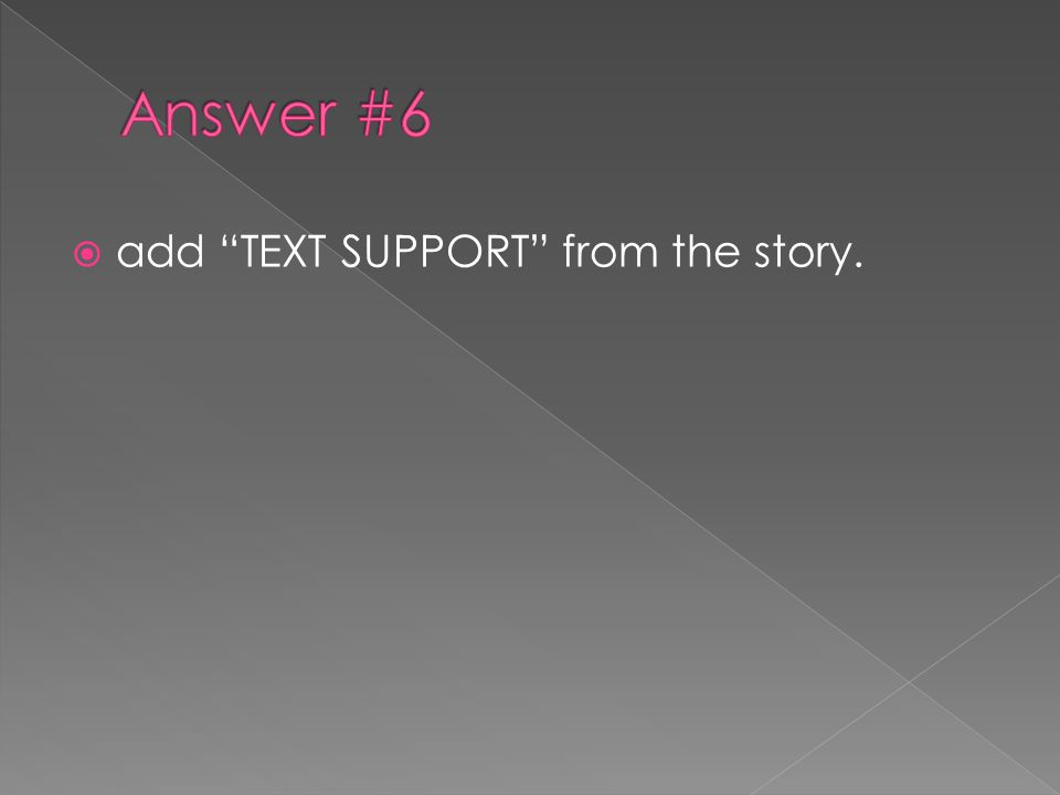  add TEXT SUPPORT from the story.