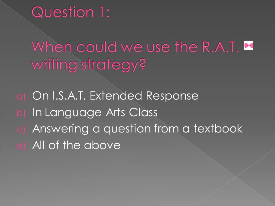 a) On I.S.A.T.