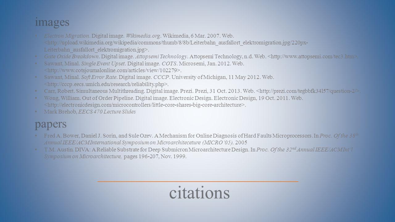 citations images Electron Migration. Digital image. Wikimedia.org. Wikimedia, 6 Mar. 2007. Web.. Gate Oxide Breakdown. Digital image. Attopsemi Techno