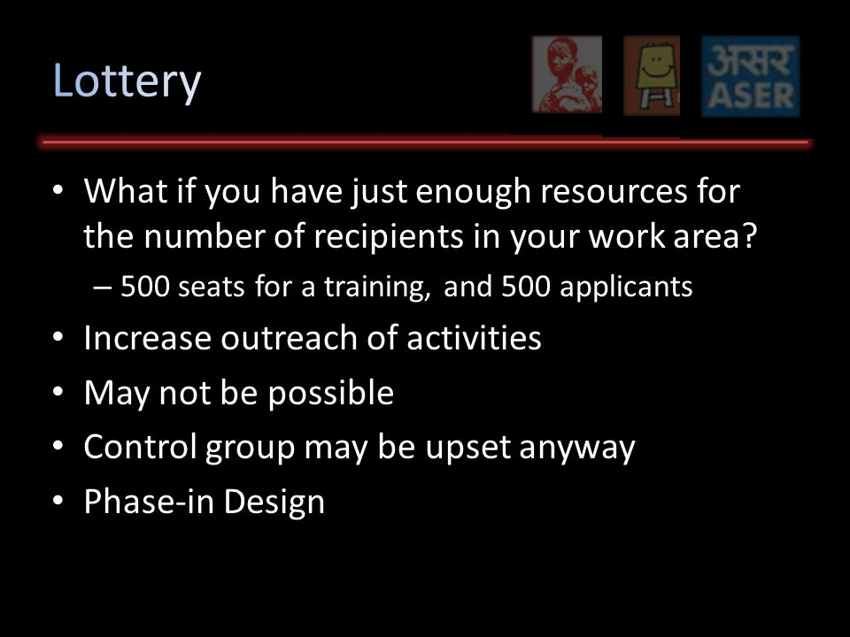What if you have just enough resources for the number of recipients in your work area.