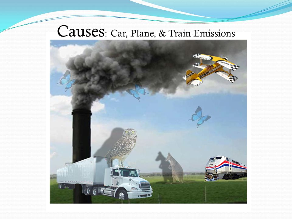 Causes : Car, Plane, & Train Emissions