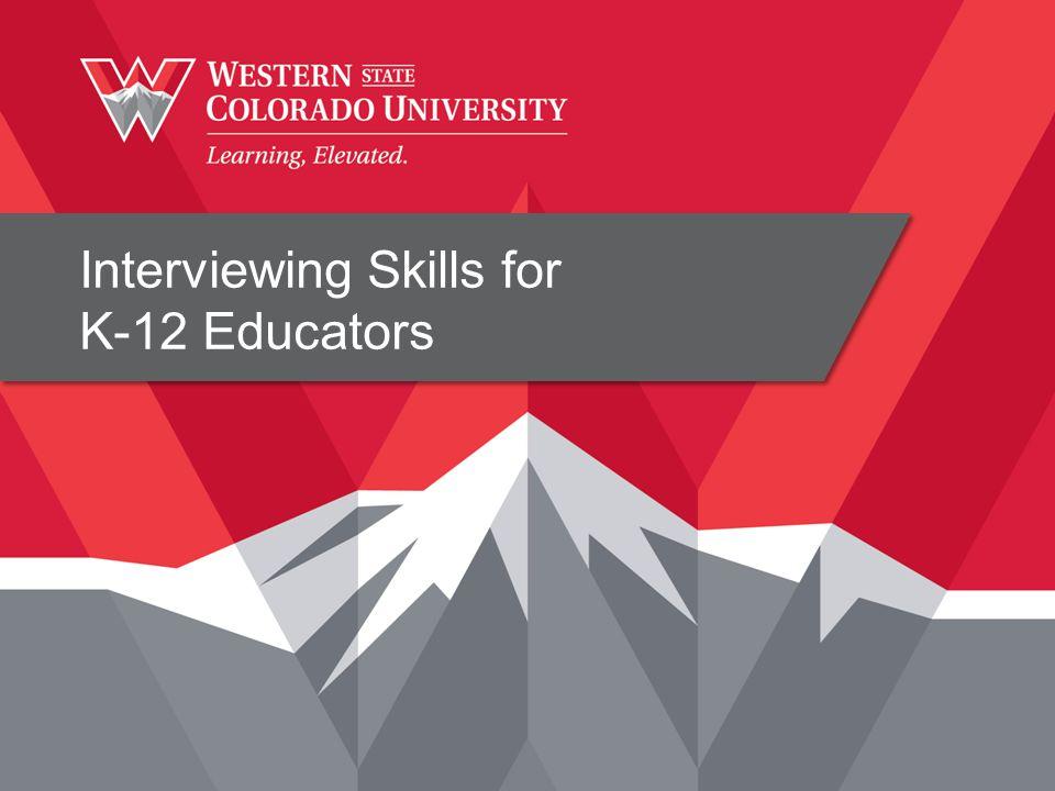 Interviewing Skills for K-12 Educators
