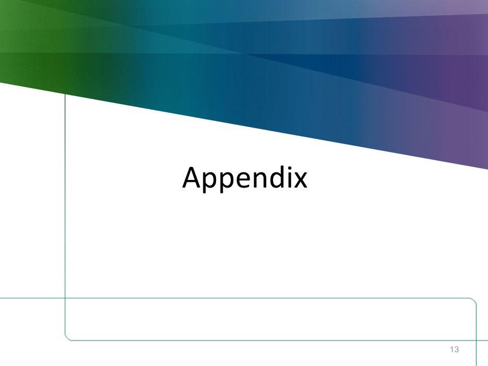 13 Appendix
