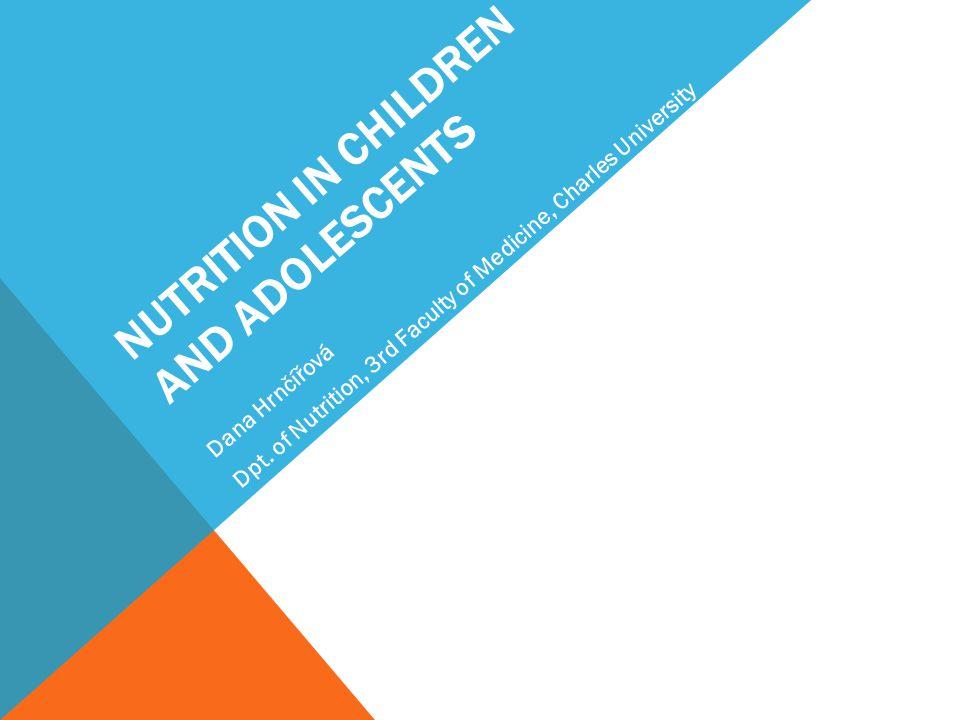NUTRITION IN CHILDREN AND ADOLESCENTS Dana Hrnčířová Dpt.