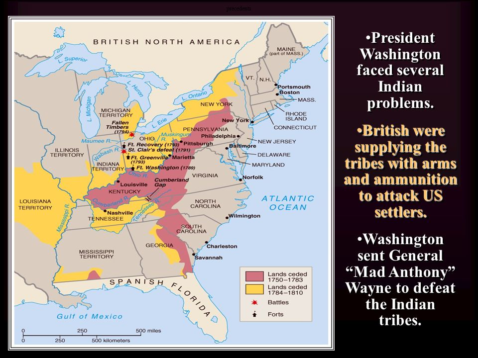 President Washington faced several Indian problems.