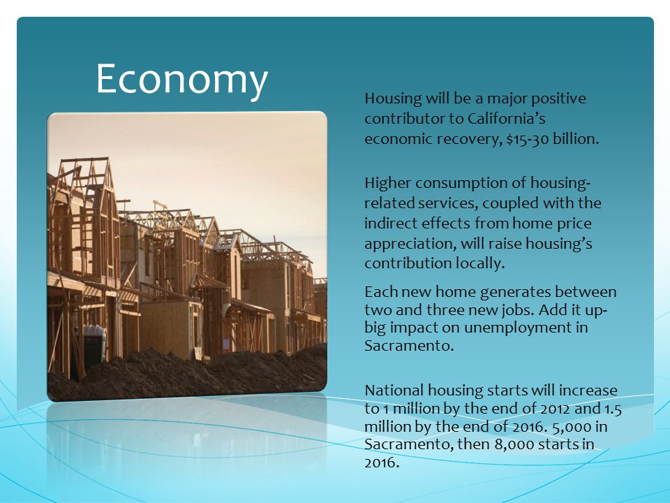 Higher consumption of housing- related services, coupled with the indirect effects from home price appreciation, will raise housing's contribution locally.