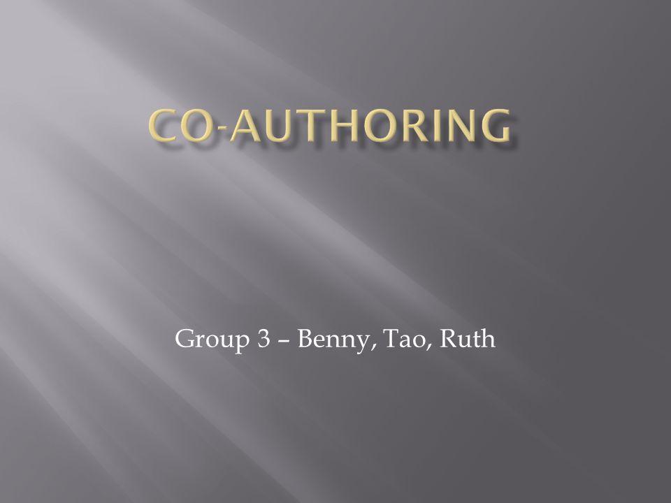 Group 3 – Benny, Tao, Ruth