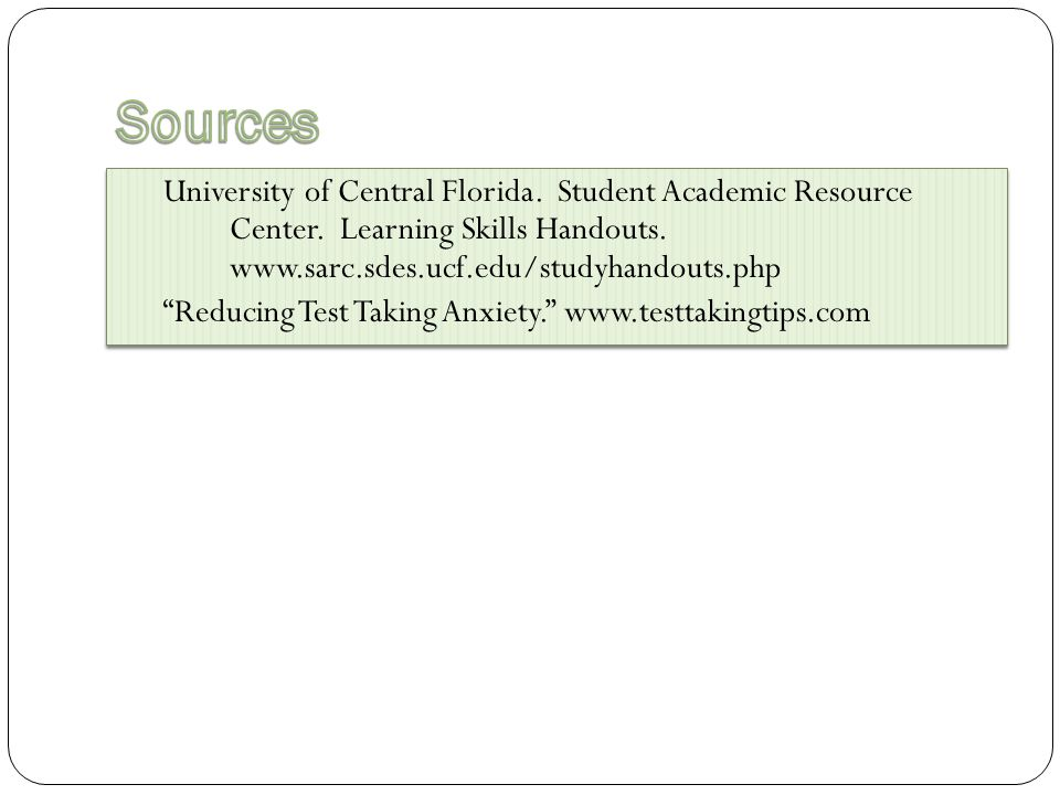 University of Central Florida. Student Academic Resource Center.