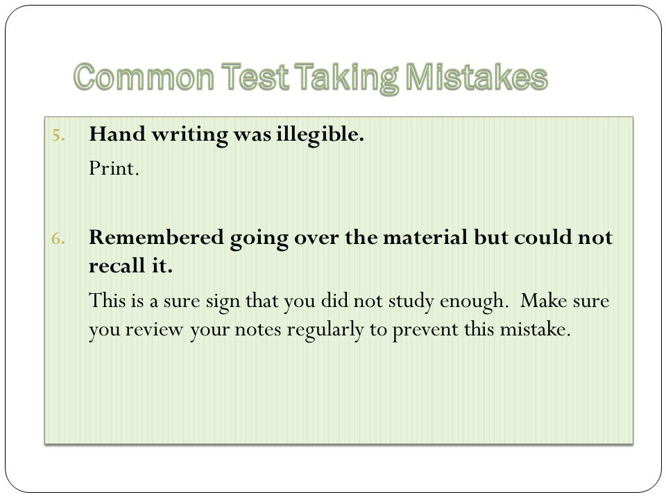 A major problem students do poorly on essay exams is they do not follow directions.