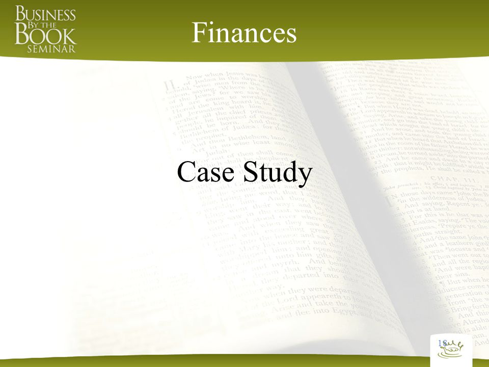 18 Finances Case Study