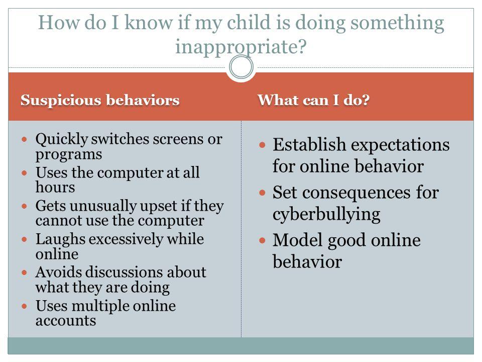 Suspicious behaviors What can I do.