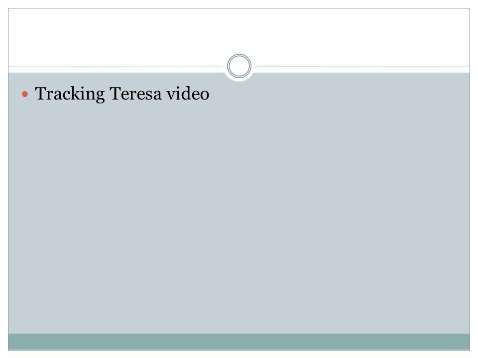 Tracking Teresa video
