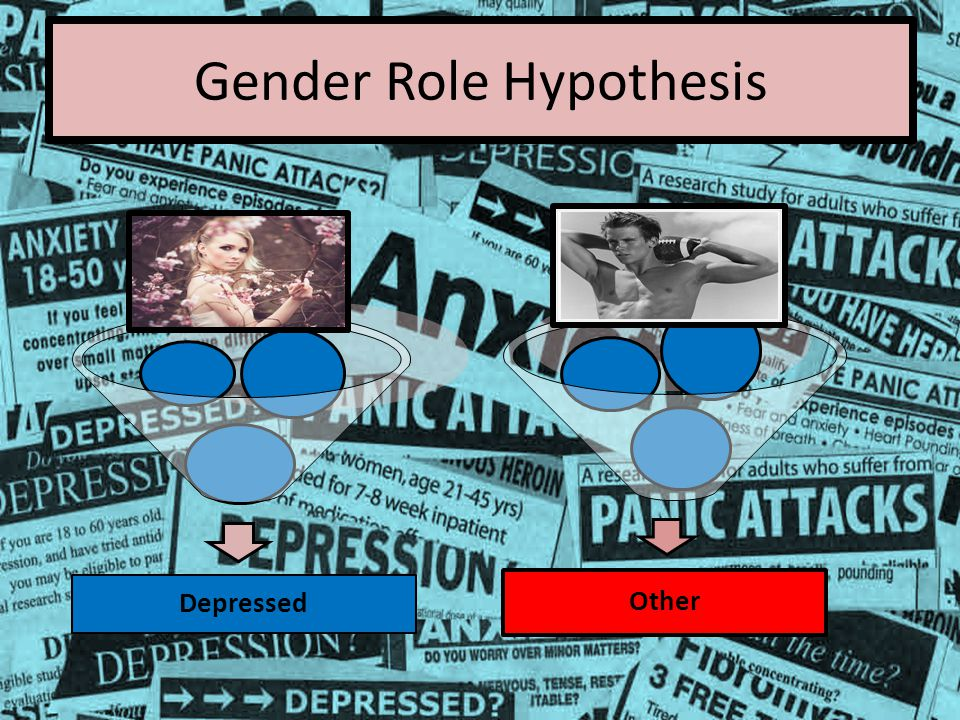 Gender Role Hypothesis Depressed Other