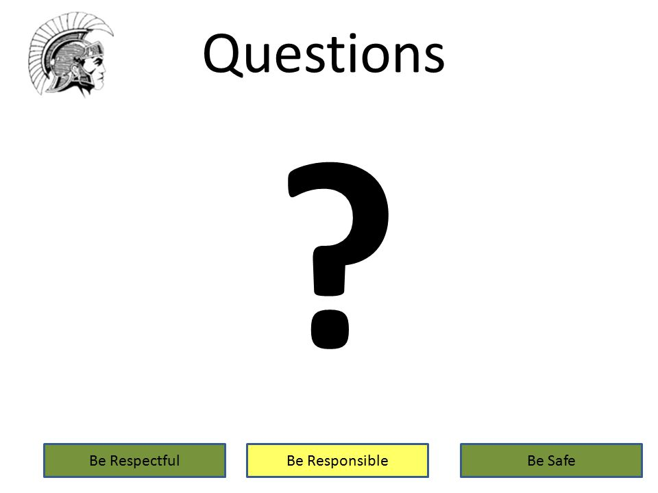 Questions Be RespectfulBe ResponsibleBe Safe