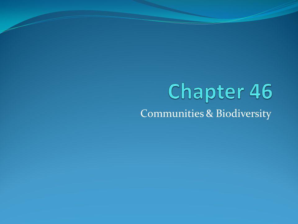 Communities & Biodiversity