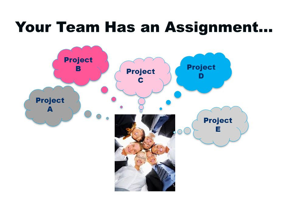 Your Team Has an Assignment… Project A Project A Project B Project B Project C Project C Project D Project D Project E Project E
