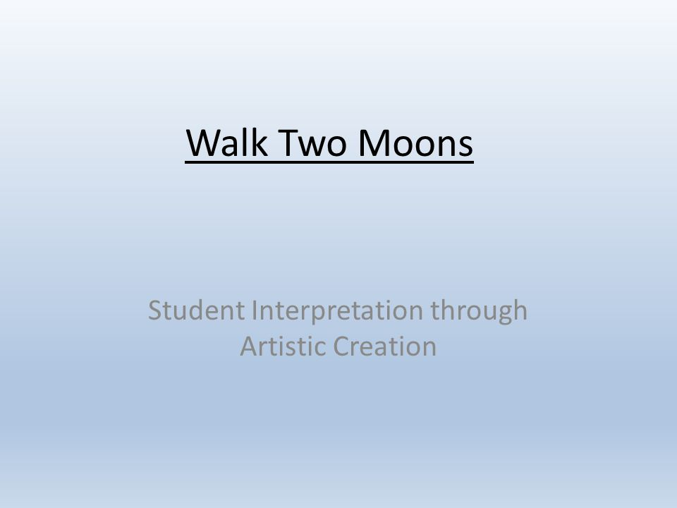 essay about walk two moons