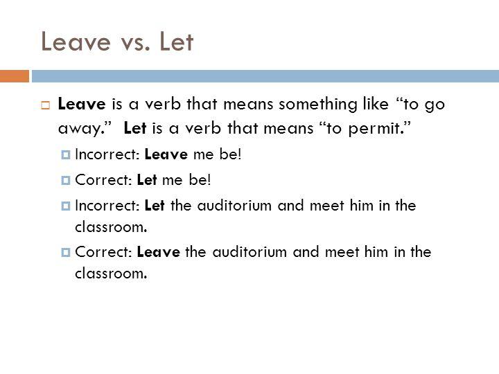 Learn vs.