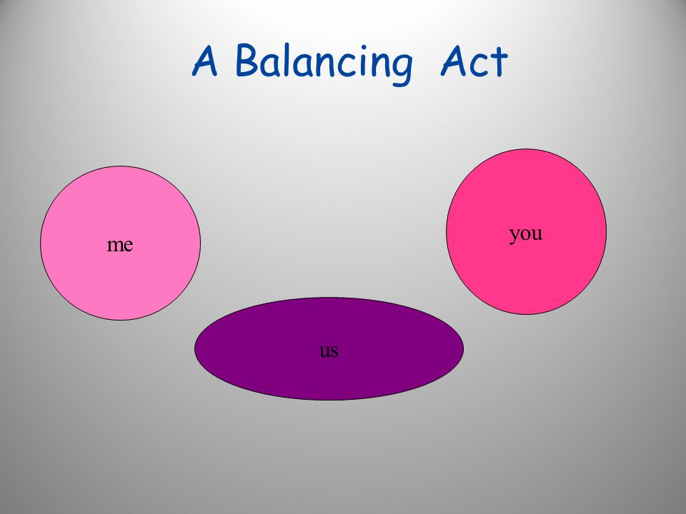A Balancing Act me you us