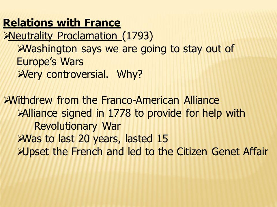 Relations with Spain  Pinckney Treaty (1795)— port of N.O.