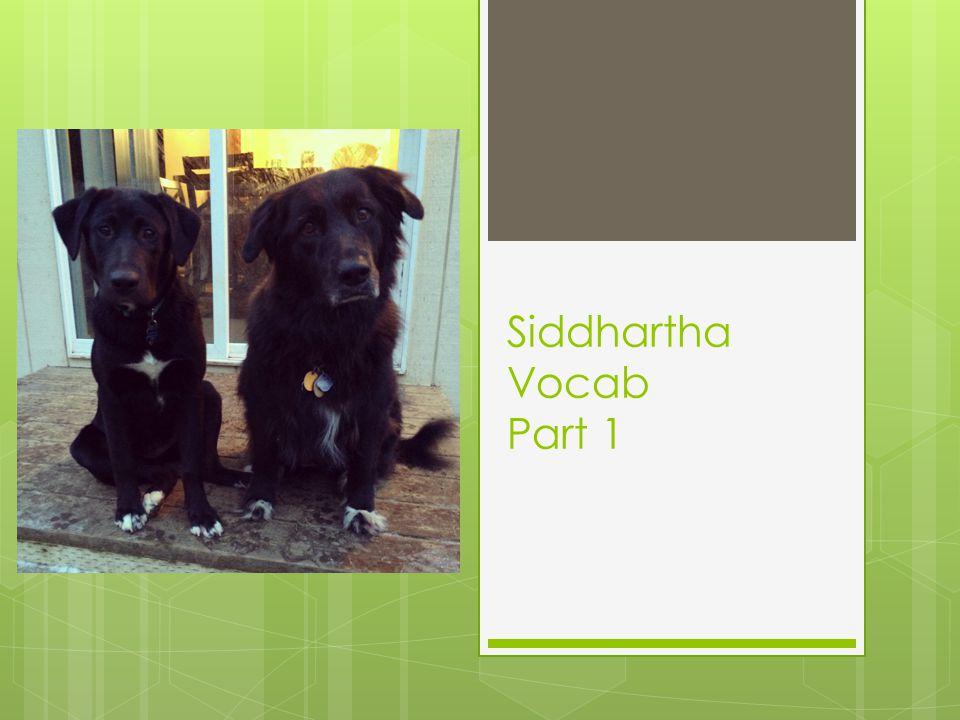 Siddhartha Vocab Part 1