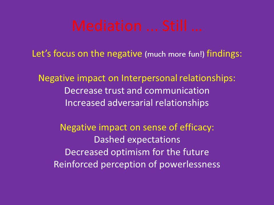 Mediation...