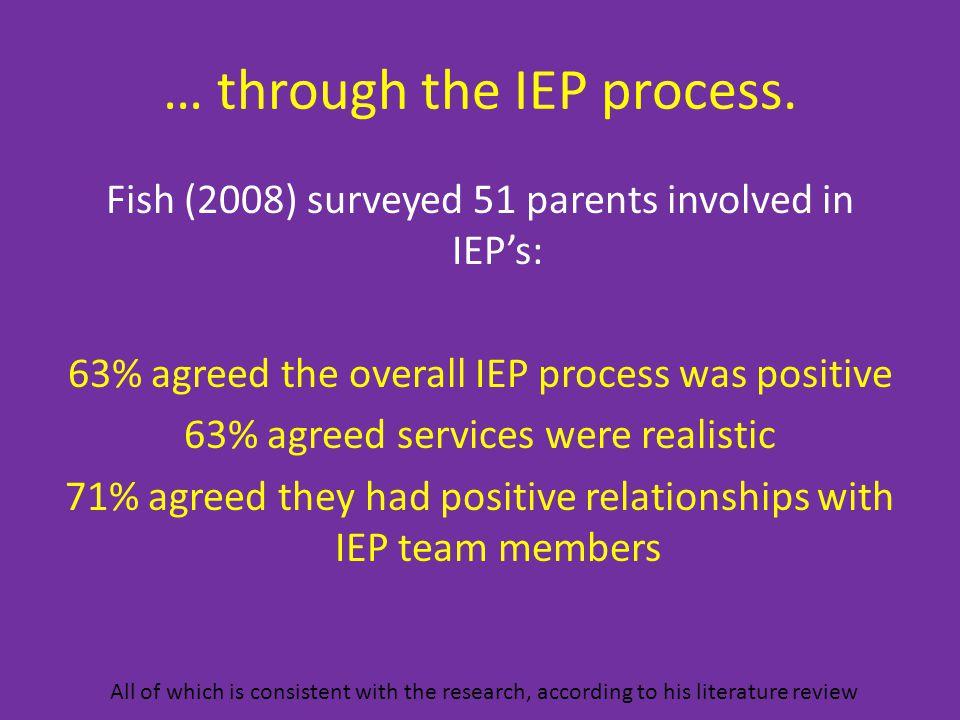 … through the IEP process.