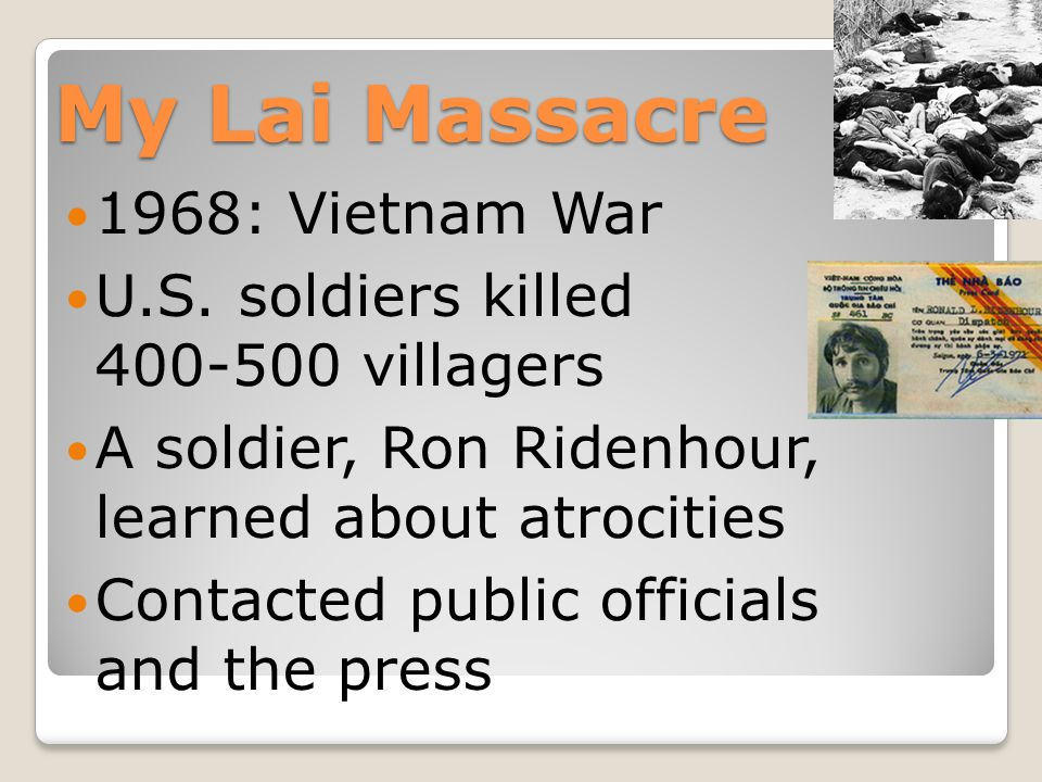 My Lai Massacre 1968: Vietnam War U.S.